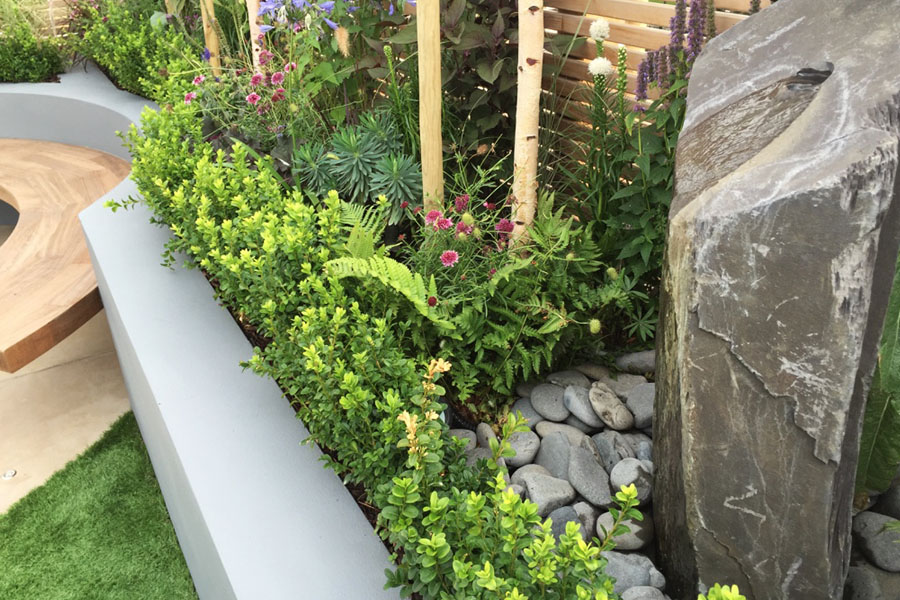 contemporary terrace landscaping
