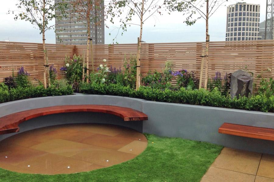 modern roof garden landscape